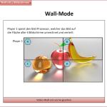 Wiedergabe in Wall-Mode-Anordnung